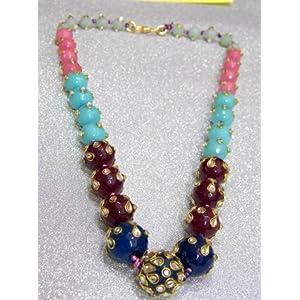 Beautiful stone Mala/Chain made of 5 colour stone beads