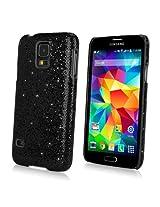 Galaxy S5 Case, BoxWave® [Glamour & Glitz Case] Slim, Snap-On Glitter Cover for Samsung Galaxy S5 - Black Pearl