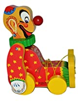 Fisher Price Squeaky the Clown Limited Edition #6593 Pull Toy