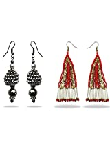Beadworks Earring Combo of 2 Pair