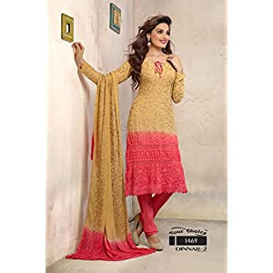 Peach and Pink Anarkali Suit