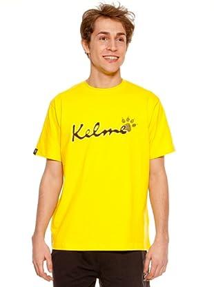 Kelme Camiseta Manga Corta Casual (Amarillo)