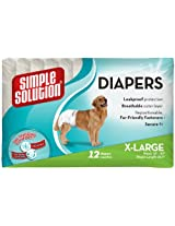 Simple Solution Disposable Diapers, X-Large(12 Pack)