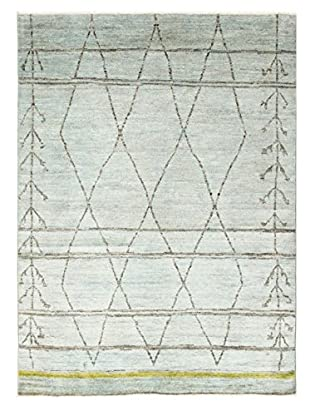 nuLOOM One-of-a-Kind Hand-Knotted Roberts Rug, Light Green, 7' 8