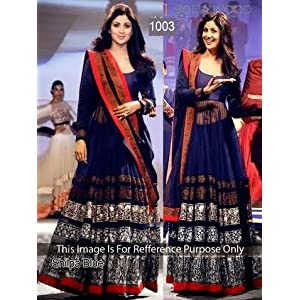 Get Style at Home Shilpa Shetty Anarkali Dress - Blue