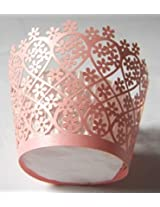 ShopAParty - Pink Garden Laser Cut Cupcake Wrappers