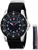 Victorinox Men's 241674.1 Analog Display Swiss Quartz Black Watch