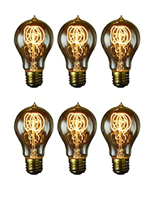 Bulbrite Set of 6 Nostalgic Edison Quad Loop-Style Bulbs