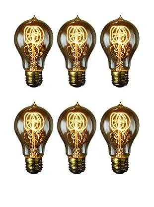 Bulbrite Set of 6 Nostalgic Edison Quad Loop-Style Bulbs