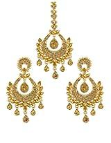Kundan Wedding MaangTikka With Earrings