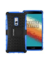 OnePlus Two Protective Back Cover / Case : Cool Mango Premium Dual Layer Armor Protection Case / Cover with Kick-stand for OnePlus 2 - Blue
