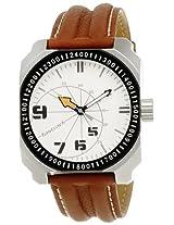 Fastrack Commando Analog White Dial Men's Watch - NE3083SL01
