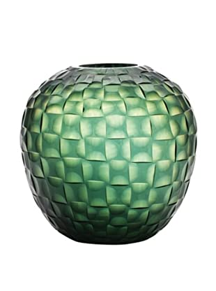 Dynasty Gallery Hand-Faceted Mouthblown Large Glass Vase (Green)