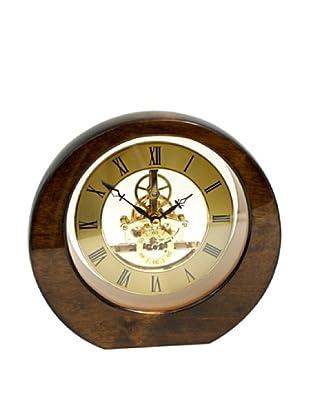 Round Desk Clock, Walnut