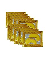 10/20/30/50/60/80/100 Pairs Wholesale New Crystal 24 K Gold Powder Gel Collagen Eye Mask Masks Sheet Patch, Anti Ageing Aging, Remove Bags, Dark Circles & Puffiness, Skincare, Anti Wrinkle, Moisturising, Moisture, Hydrating, Uplifting, Whitening, Remove Blemishes & Blackheads Product. Firmer, Smoother, Tone, Regeneration Of Skin. Suitable For Home Use Hot Or Cold. (10 Pairs)