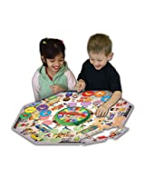 The Learning Journey Explore & Learn Food Market Fun Floor Puzzle