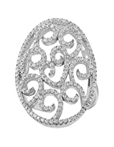 Define Jewellery Silver ring for Women (DFLR0135 )