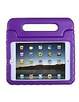 HDE iPad Mini 4 Case for Kids Shockproof Handle Stand Protective Cover for 2015 Apple iPad Mini 4 Retina (Purple)