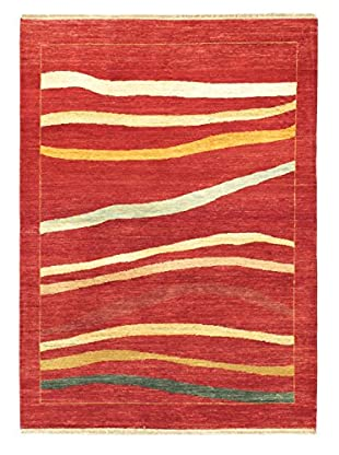 Hand-Knotted Finest Ziegler Chobi Wool Rug, Dark Red, 4' 7