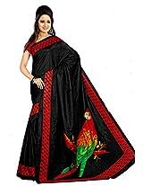 Samskruti Exclusive Art Silk Printed Parrot Pallu Design Saree(8758A)