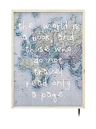 Panel Decorativo Luminoso World Book