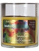 Candle-lite Landscape Natural Wooden Wick Candle - Sunlit Brilliance