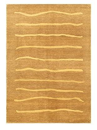 Hand-Knotted Finest Ziegler Chobi Wool Rug, Beige, 4' 8