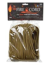 Live Fire 550 Fire Cord, 100 Feet, Coyote Brown