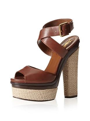 YSL Women's Flirty Astrap Sandal (Brown)