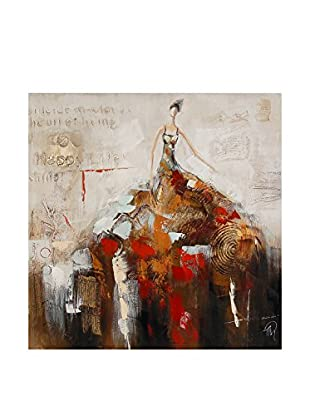 Arte Dal Mondo Leinwandbild Dame