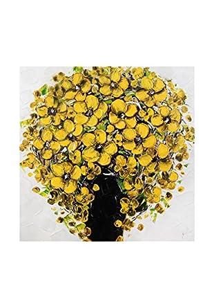 Arte dal Mondo  Wandbild Paolo Rossini Dipinto Vaso Fiori Gialli