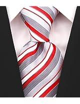 Scott Allan Men's Striped Tie - Red & Gray