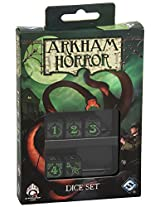Black Green Arkham Horror Dice, Set of 5