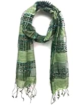 ScarfKing Self woven Scarf-Green