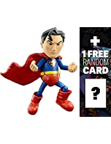 "Superman: ~5.5"" Herocross Hybrid Metal Figuration Action Figure Series + 1 FREE Official DC Trading"
