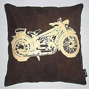 Kitschdii Leather Bike Cushion Cover- Brown