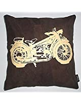 Kitschdii Leather Bike Cushion Cover- Brown