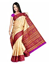 Somya Silk Saree With Blouse Piece (015Dno101 -Chikoo)