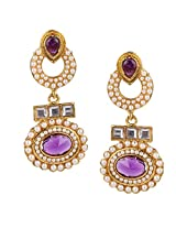 Ethnic Indian Bollywood Jewelry Set Traditional Fashion Pearl EarringsISREA033PU