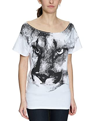 PUMA T-Shirt Aquarell Cat (Weiß)