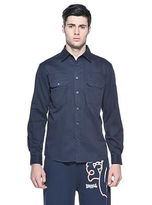 Lonsdale Camisa Bolsillos (Azul)