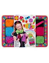 ALEX Toys Craft Fuzzy Wuzzy Knitting Kit with Needles, Yarn and Keepsake Tin