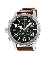 Nixon 51-30 Chronograph Brown Leather Men'S Watch - Nxa1241037