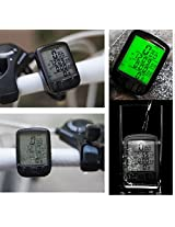 Bicycle Cycling Odometer Big Digital LCD Backlight Cadence Bicycle Speedometer Mountain Bike Computer Waterproof 25 Function SD-563A