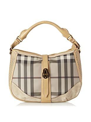 Burberry Women's Smoked Check Woven Bag, Multi