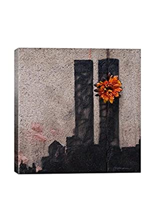 Banksy Twin Towers Tribute Gallery Wrapped Canvas Print