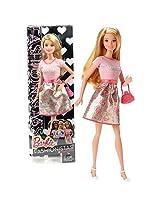 Mattel Year 2014 Barbie Fashionistas Series 12 Inch Doll Set Barbie (Cln60) In Dream Floral Dress With Purse