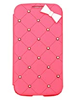 Rock Pink Flip Covers For Samsung Galaxy Mega i9200 | Samsung Mega 6.3 Flip Covers | Mega 6.3 i9200 Rock Flip Covers | Leather Flip Covers Samsung Mega 6.3 i9200