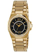 Giordano Analog Black Dial Women's Watch - GX2686-44