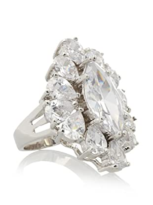 CZ By Kenneth Jay Lane Marquise Cocktail Ring (Silver)